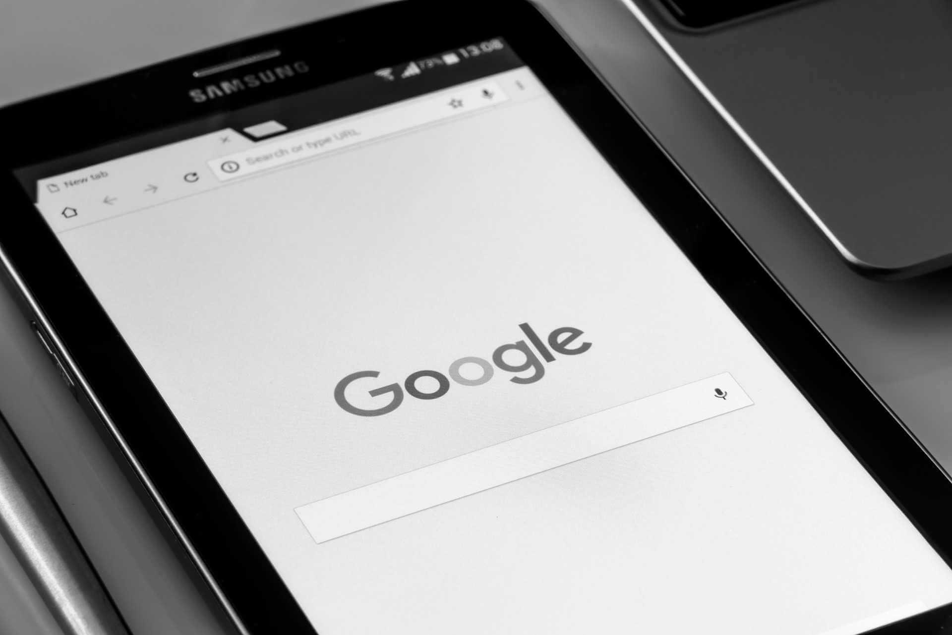 Google Suche auf einem mobilen Endgerät