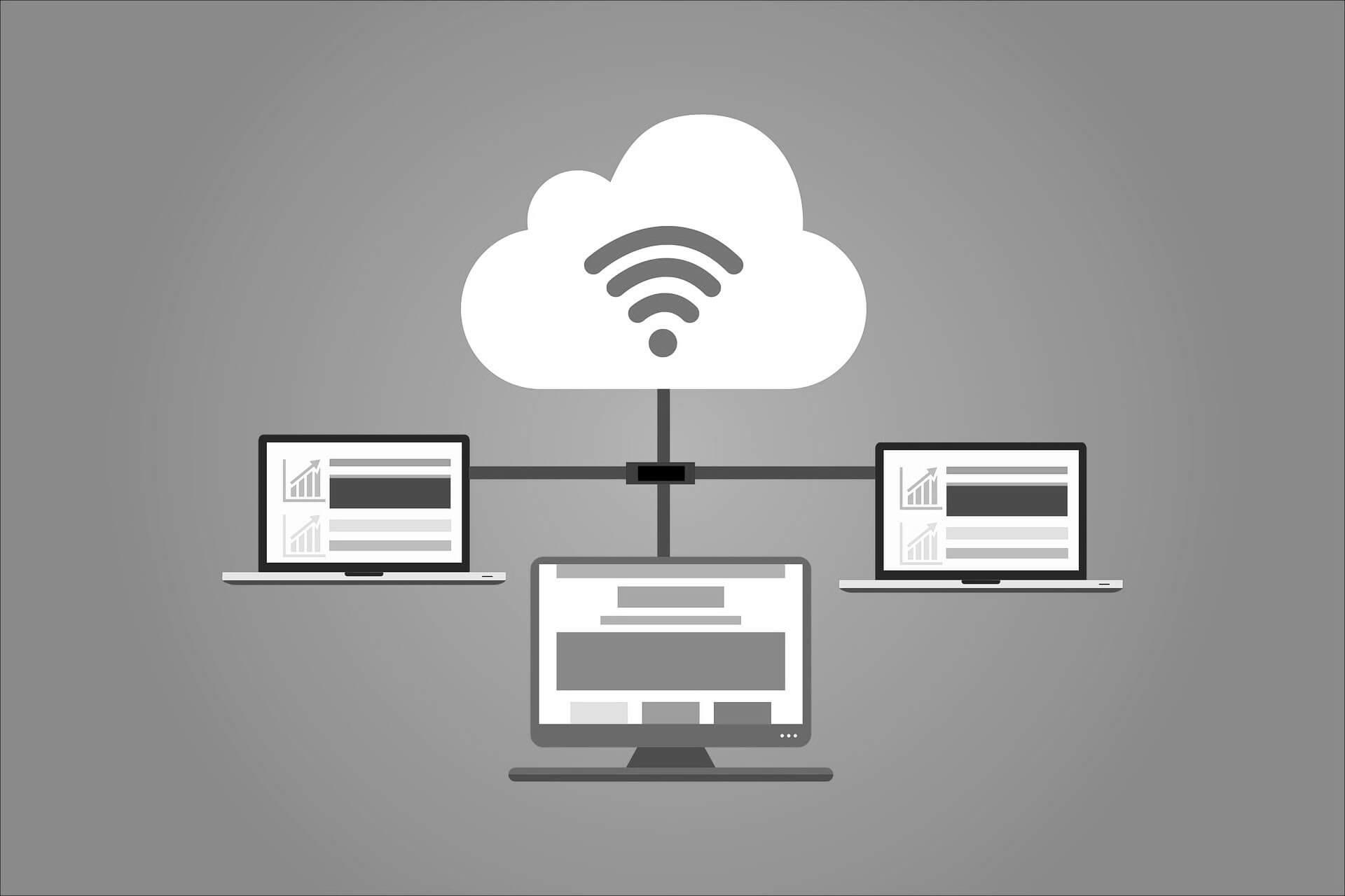 Symbolbild für die Funktionsweise einer cloud während COVID-19